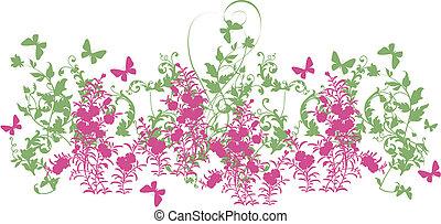 Floral Design Art - Lindo flor em vetor com design...