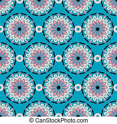 big abstract flowers pattern
