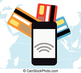 mobile payments - Mobile payments and communicationFlat...