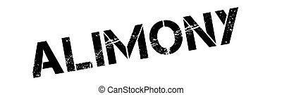 Alimony black rubber stamp on white Print, impress,...