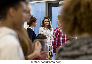 Students Talking in School