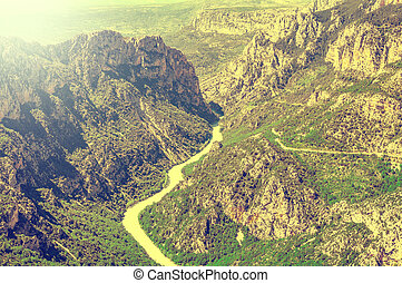 Verdon gorge. Provence. - View of deep Verdon gorge....
