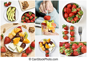 collage of different meals made with fruits - a collage of...