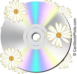 Cd and daisies illustrations
