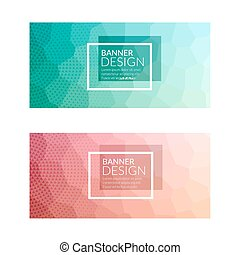 Set of polygonal colorful background banners poster booklet...