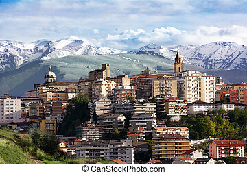 chieti, one of the capitals of Abruzzo photographs with the...