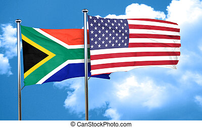 South africa flag, 3D rendering