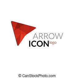 Vector arrow logo icon. Business arrow concept design logo.