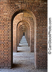 Fort Jefferson Arches - Arches in Historic Fort Jefferson,...