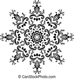Vector hexagonal design ornament, pattern