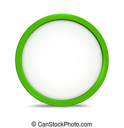 greeen round icon symbol copy space