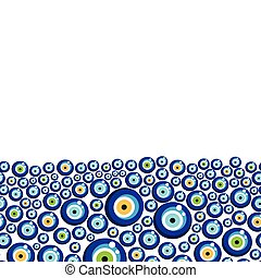 Evil eye vector pattern. - Turkish eye bead background.