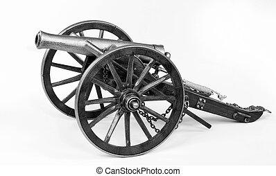 1863 Dahlgren Cannon - Model of a 1863 Dahlgren cannon in...