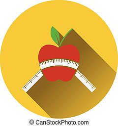 Icon of Apple with measure tape