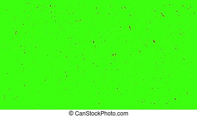 Blood Splashes Over Green Background with Green Screen. Easy...