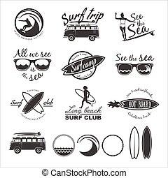 Surfer vector set.