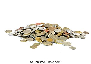 Coins from all around the world - A heap of coins from...