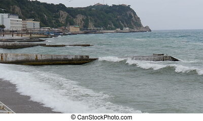 Waves on the Black Sea - Waves on the shore of the Black...