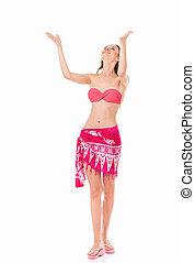 Woman posing in bikini - Sexy young woman posing in a...