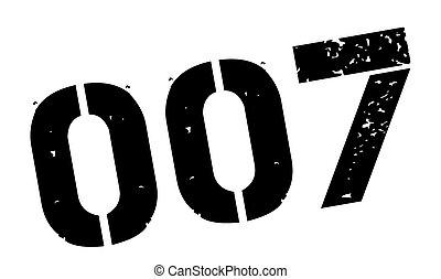 zero, zero, sete, pretas, borracha, selo, ligado, branca,