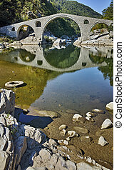 Devil's Bridge, Rhodopes, Bulgaria - Reflection of Devil's...