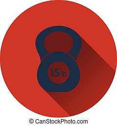 Kettlebell icon Flat design Vector illustration