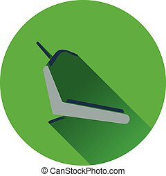 Treadmill icon Flat design Vector illustration