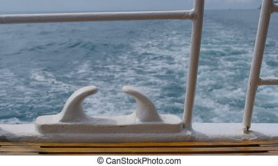 Sea wave from a fast ship - The wake of the fast ship