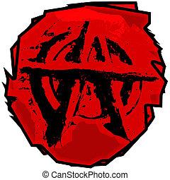 Anarchy Symbol - Anarchists Logo