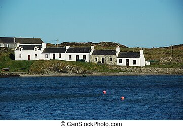 Houses in Port Ellen on Islay