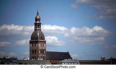 Evangelical Lutheran Riga Dome Cathedral. Riga, Latvia. -...