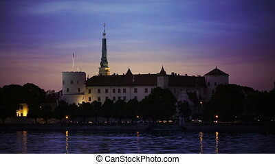 view of the Riga Castle - the residence of President of...