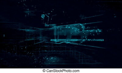 darkness and blue lines loop - Animated backgrounds darkness...
