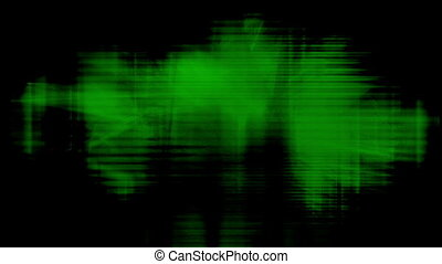 Black and green tech loop fiction animated background