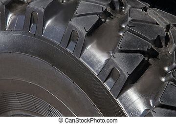 truck wheel protector closeup isolated on black