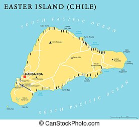 Easter Island Political Map - Easter Island political map...