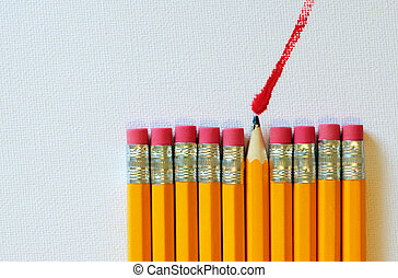 black lead pencil painting red - black lead pencil within...