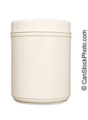 Blank White Shake Powder Canister