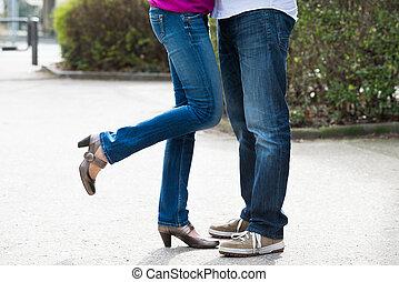 特寫鏡頭, 腿, 夫婦