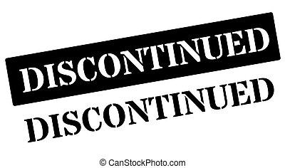Discontinued black stamp on white Print, impress, overprint...