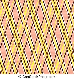 Seamless pattern in yellow and terracotta hues - Seamless...