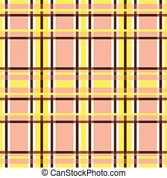 Seamless rectangular pattern in yellow and terracotta -...