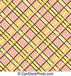 Seamless diagonal pattern in yellow and terracotta -...