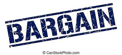 bargain blue grunge square vintage rubber stamp