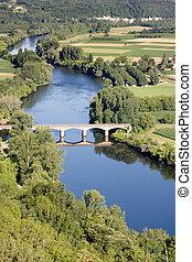 Dordogne river at Domme village