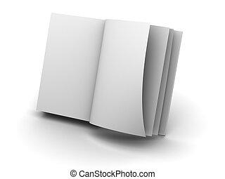 open book 3d