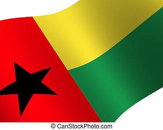 Guinea-Bissau - National Flag. Guinea-Bissau