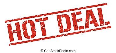 hot deal red grunge square vintage rubber stamp