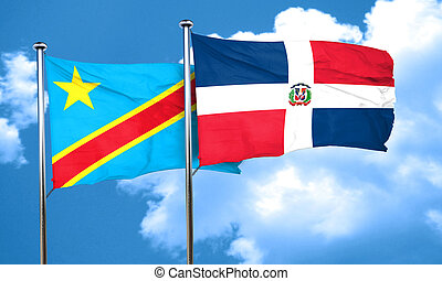Democratic republic of the congo flag with Dominican...