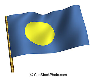 Palau - National Flag. Palau